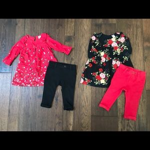 Fall Floral Sets.  Old Navy size 6-12 months.